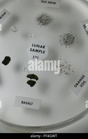 NASA moon rock samples - Stock Image