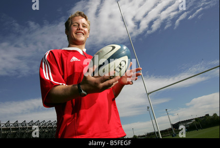 Scotland International and British Lions Rugby player Simon Taylor at Murrayfield in 2005 - Stock Image