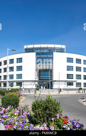 Eastern Gateway Building, Brunel University London, Kingston Lane, Uxbridge, London Borough of Hillingdon, Greater London, England, United Kingdom - Stock Image