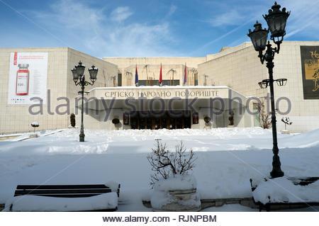 The Serbian National Theatre, in the city of Novi Sad, Vojvodina, Serbia. - Stock Image