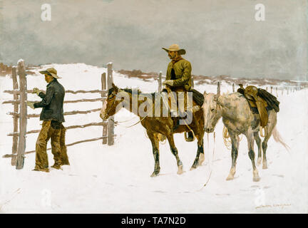 Frederic Remington, The Fall of the Cowboy, 1895 - Stock Image