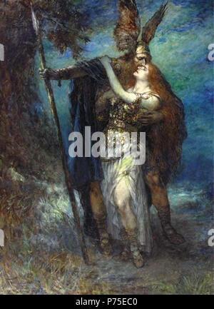 122 Ferdinand Leeke - Wotan and Brünnhilde, 1930 - Stock Image