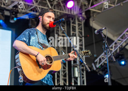 June 15, 2019 - Manchester, Tennessee, U.S - RUSTON KELLY during the Bonnaroo Music + Arts Festival in Manchester, Tennessee (Credit Image: © Daniel DeSlover/ZUMA Wire) - Stock Image