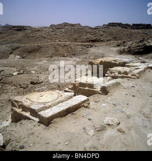 Ruins of Shabwa Yemen - Stock Image