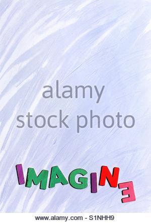 imagine (word) - Stock Image