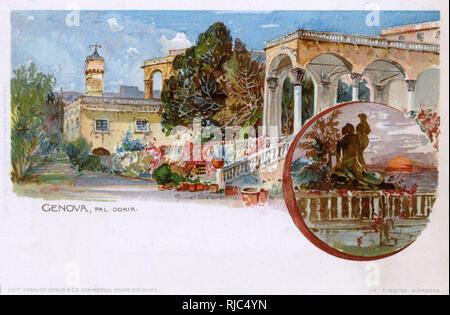 The Palazzo Doria or Palazzo Andrea e Gio, Via Garibaldi, Genoa (Genova), Italy. - Stock Image