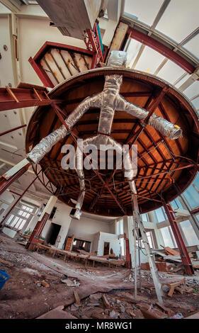 at an abandoned tower restaurant and bar in Bangkok, Thailand - Stock Image