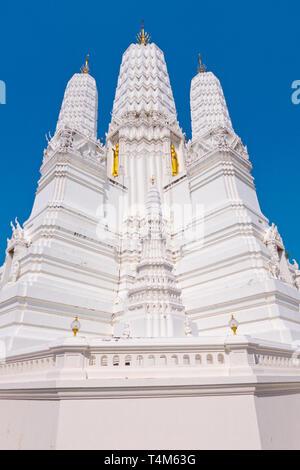 Prang, in Ayuthaya style, Wat Mahathat Worawihan, Phetchaburi, Thailand - Stock Image
