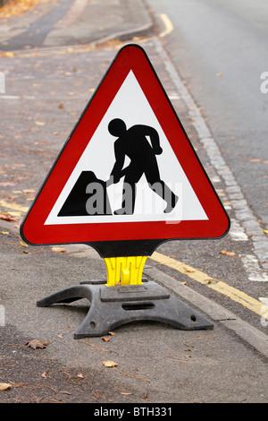Roadworks sign - Stock Image
