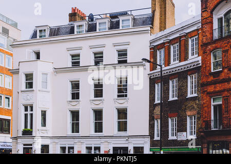 LONDON, UNITED KINGDOM - August 23rd, 2018: architecture in London city centre in Mayfair - Stock Image