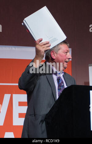 'Leave Means Leave' rally held at Queen Elizabeth II Conference Centre  Featuring: Sammy Wilson MP DUP Where: London, United Kingdom When: 14 Dec 2018 Credit: Wheatley/WENN - Stock Image