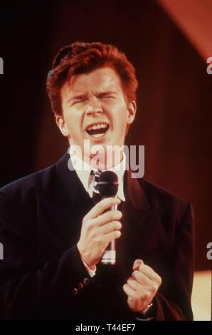 RICK ASTLEY English pop singer in 1987 - Stock Image