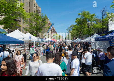Weekend market, woodside, queens, Queens, New York, , ny, united states of america, usa - Stock Image