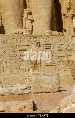 The Abu Simbel temple at Abu Simbel, a village in Nubia, southern Egypt, North Africa - Stock Image