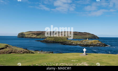 RS 8072  Calf of Man & The Sound, Isle of Man, UK - Stock Image