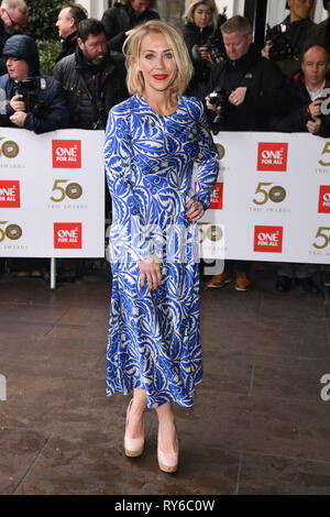 London, UK. 12th Mar, 2019. LONDON, UK. March 12, 2019: Laura Hamilton arriving for the TRIC Awards 2019 at the Grosvenor House Hotel, London. Picture: Steve Vas/Featureflash Credit: Paul Smith/Alamy Live News - Stock Image
