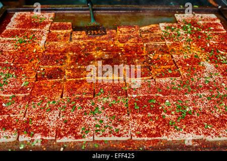 mapo doufu tofu traditional spicy food Sichuan cuisine China - Stock Image