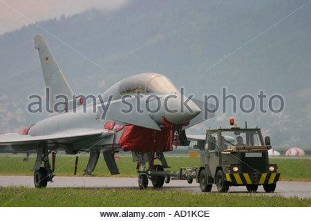 Zeltweg 2005 AirPower 05 airshow Austria, Eurofighter Typhoon two seater - Stock Image
