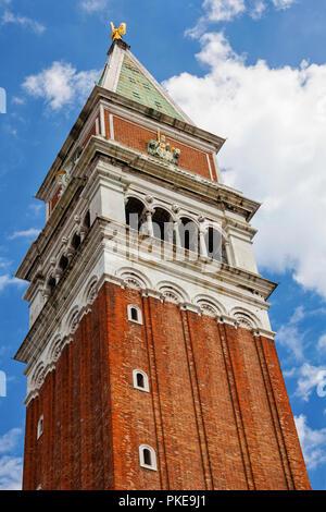Campanile in St. Mark's Square; Venice, Italy - Stock Image