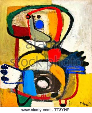 Child V by Karel Appel born in 1921 Dutch painter, (sculptor,  poet, Avant-garde movement Cobra), The, Netherlands. - Stock Image