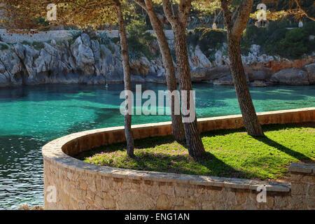 Coast around Platja Cala Gat, Cala Rajada, Mallorca - Stock Image