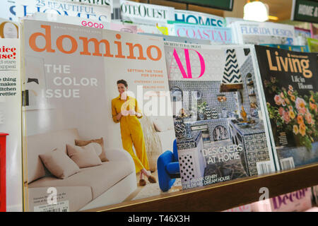 Magazine Stand Featuring Magazine Covers, NYC, USA - Stock Image