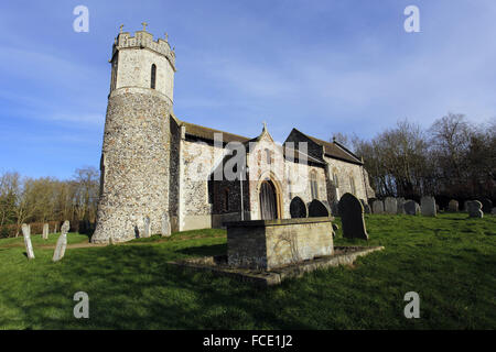 St Mary Church, Hassingham, Norfolk - Stock Image