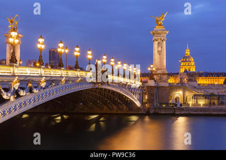 Pont Alexandre III in Paris, France - Stock Image