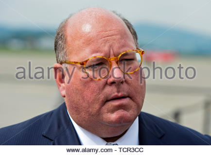 Edward T. McMullen, Ambassador of the United States to Switzerland and Liechtenstein, on 7 June 2019 at the Payerne military airfield, Payerne, Vaud,  - Stock Image