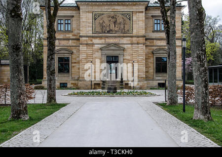 Villa Wahnfried, the house where composer Richard Wagner once lived - a museum since 1976 - has been restored, renewed and expanded. - Stock Image