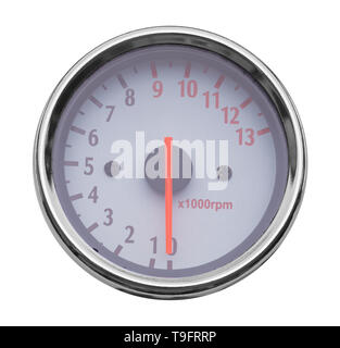 RPM Odometer Isolated on a White Background. - Stock Image