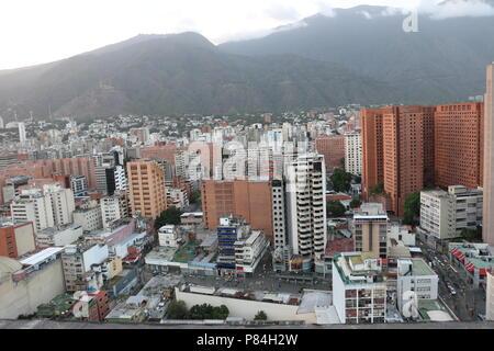 Sabana Grande Downtown District in Caracas, Venezuela. Marcos Kirschstein and Vicente Quintero. CitiBank Tower, Business Complex 2018 - Stock Image
