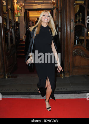 'Fortnum and Mason: Christmas and Other Winter Feasts' book launch in London  Featuring: Tess Daly Where: London, United Kingdom When: 17 Oct 2018 Credit: WENN.com - Stock Image