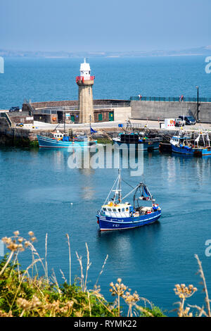 Dunmore East Harbour in County Waterford, Ireland - Stock Image