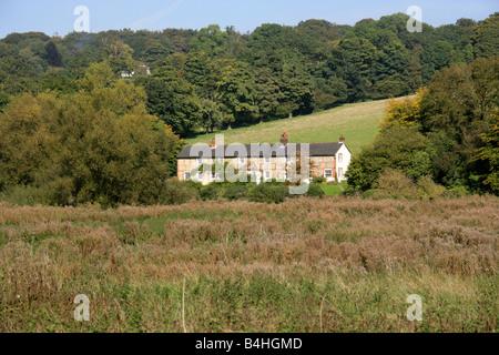 View Across the Chess Valley in Autumn, Sarratt Bottom, Hertfordshire, UK - Stock Image