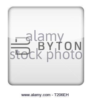 Byton logo icon - Stock Image