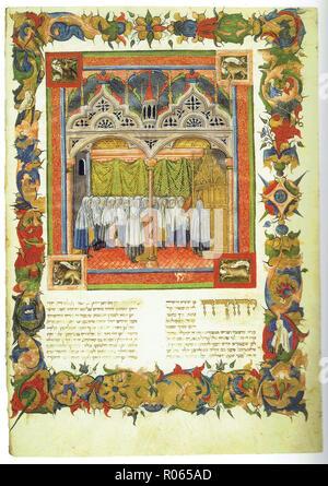 6343. Rabbi Ben Asher, Orah Hayiim, Way of Life, Mantua, Italy, 1435 - Stock Image