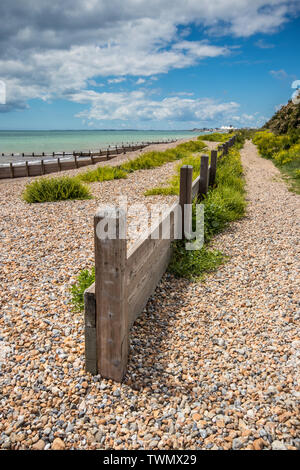 Sunny summers day at the seaside at Middleton-on-Sea near Bognor Regis, West Sussex, UK - Stock Image