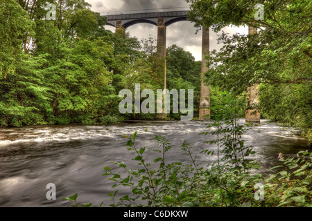 Pontcysyllte Aqueduct on the Llangollen canal near Trefor North Wales. - Stock Image
