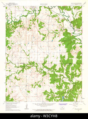 USGS TOPO Map Kansas KS Oak Valley 512142 1962 24000 Restoration - Stock Image
