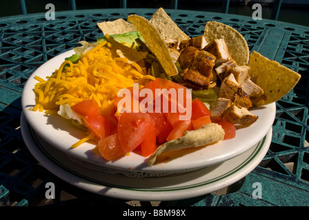 chicken taco salad tex-mex food san antonio texas tx Guenther House mexican cuisine - Stock Image