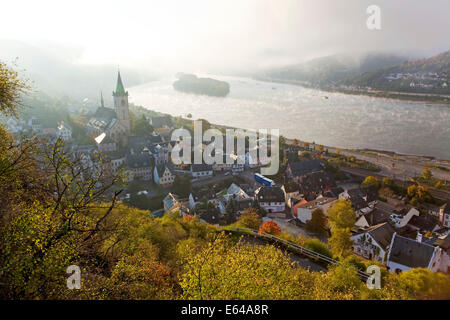 Germany, Deutschland, Rhineland-Palatinate, Rheinland-Pfalz, Rhine valley, Lorch am Rhein - Stock Image