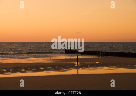 Beach in Domburg, Holland in the evening sun - Stock Image