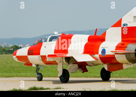 Croatian Air Force MiG-21 UMD taxiing - Stock Image