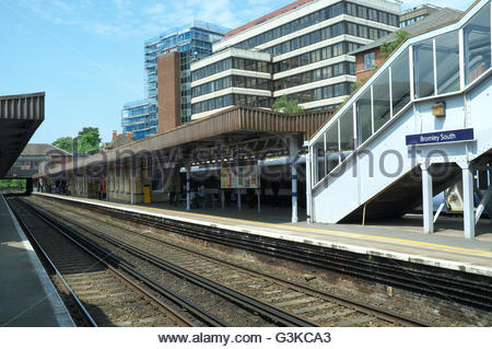 Bromley South railway station, in the London Borough of Bromley, UK. - Stock Image
