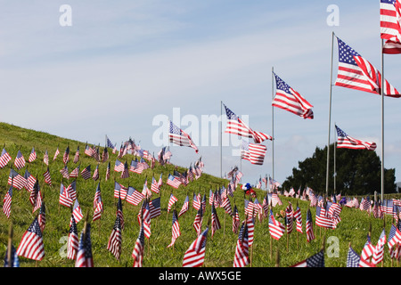 Golden Gate National Cemetery on Memorial Day 2006, San Bruno, California, United States of America - Stock Image