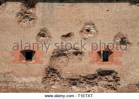 Fort Pulaski National Monument, Savannah, Georgia - Stock Image