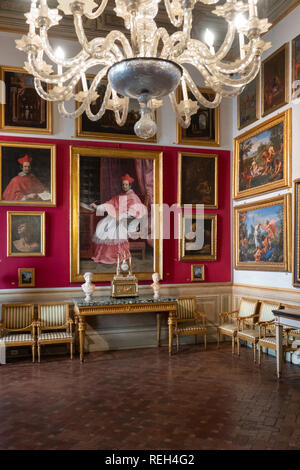 Italy Rome Galleria Spada Gallery Palazzo interior of room with art - Stock Image