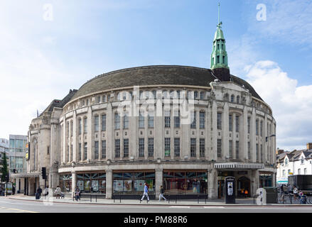 The Broadway Theatre and Town Hall Chambers, Catford Road, Catford, London Borough of Lewisham, Greater London, England, United Kingdom - Stock Image