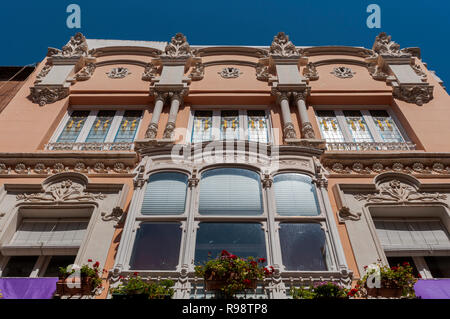 CARTAGENA, SPAIN – APRIL 12, 2017: Facade of the Clares House. It was designed by the architect Mario Spottorno in 1907 - Stock Image